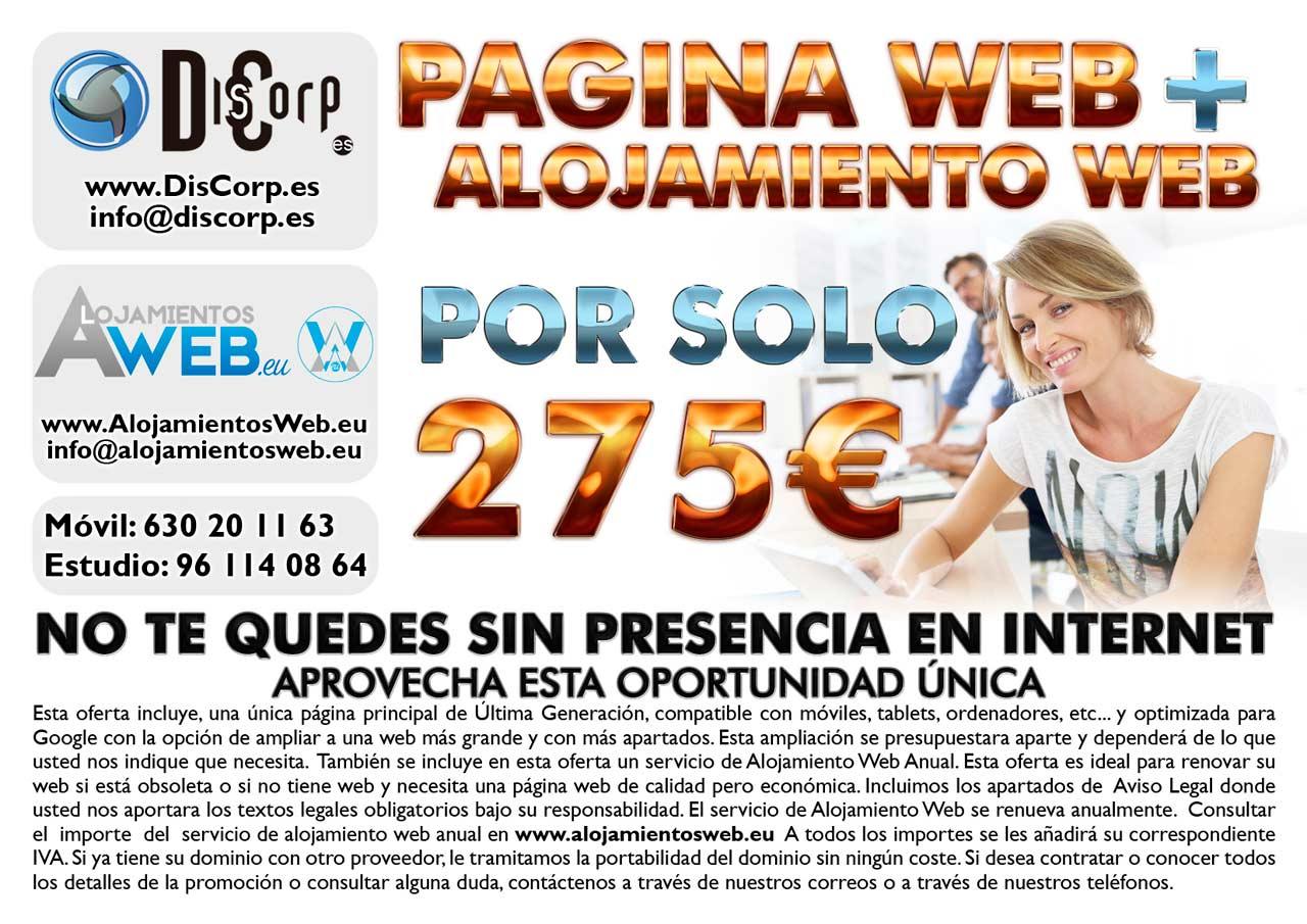 Oferta paginas web en Valencia